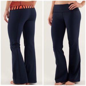 Lululemon Reversible Groove Pants Navy & Orange